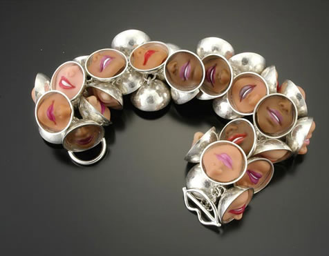 Margaux Lange - Bracelets made from Barbie smiles
