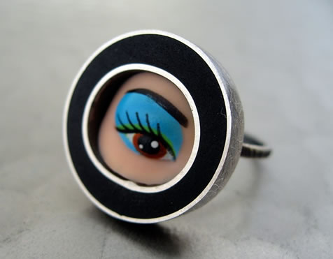 Margaux Lange - Ring made from Barbie eye