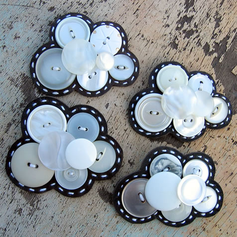Milomade Cloud Brooches
