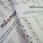 Milomade Envelopes Made From Sheet Music (Modern)