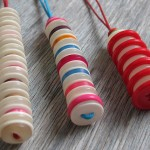 Milomade Button Stack Necklaces