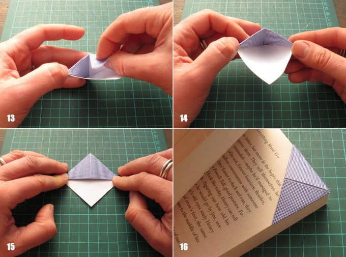 paper crafts for kids: recycled origami bookmarks tutorial