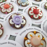 Button Flower Brooche