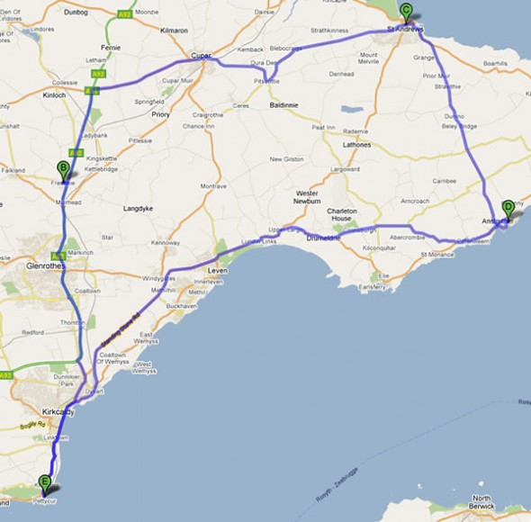 Map of my route