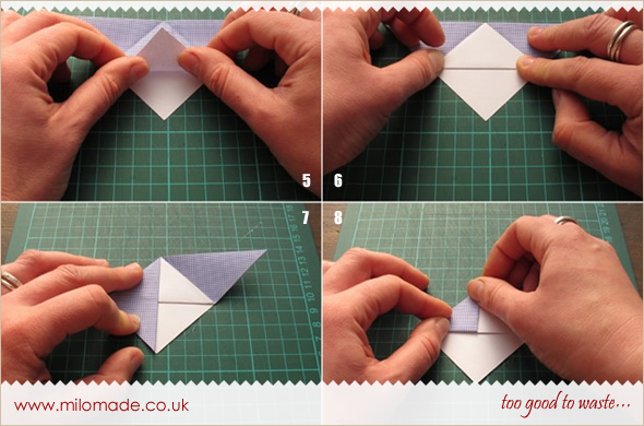 Origami Bookmark Tutorial from Milomade