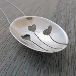 Love Heart Pendant made from an antique silver spoon