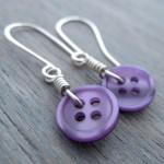 Wired Button Earrings