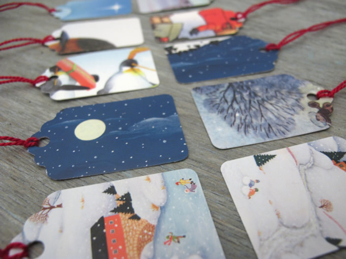 Gift Tags made from recycled Christmas Cards