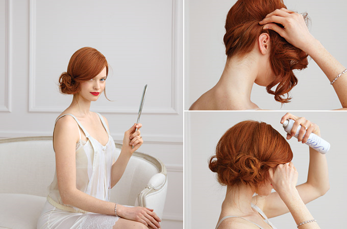 Wedding Hair How-To: The Side Chignon