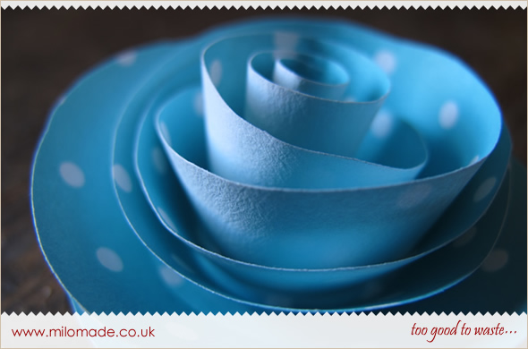 Rolled Paper Flower Tutorial from Milomade