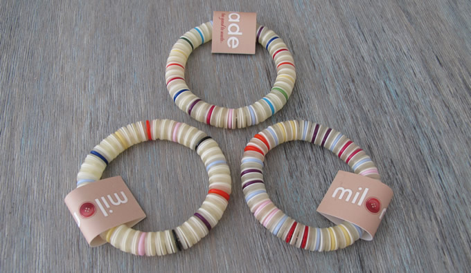 Milomade Elasticated Button Bracelets