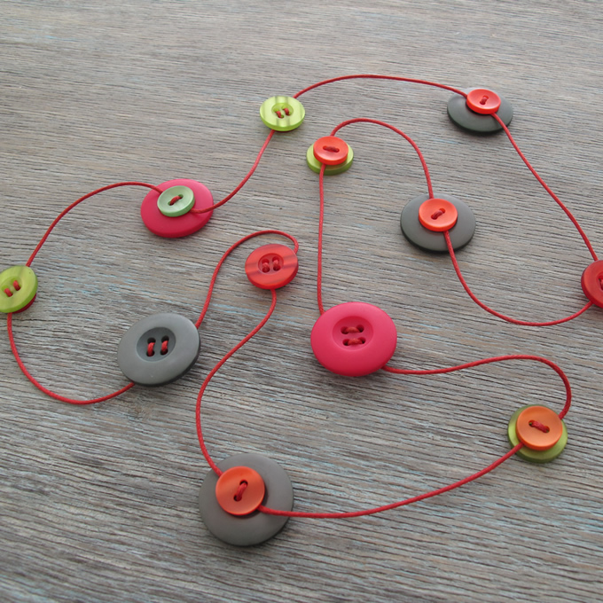 Button Strand Necklace