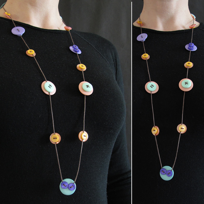 Button Strand Necklaces
