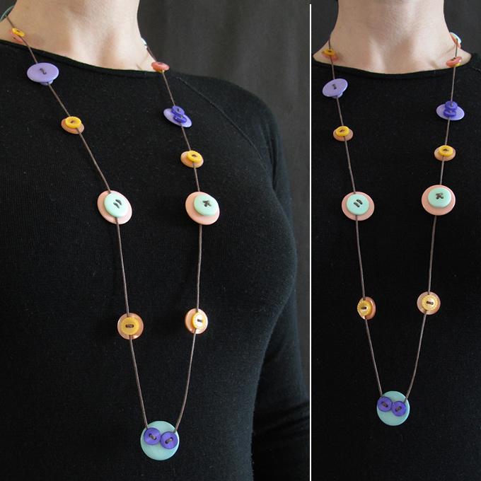 Button Strand Necklaces