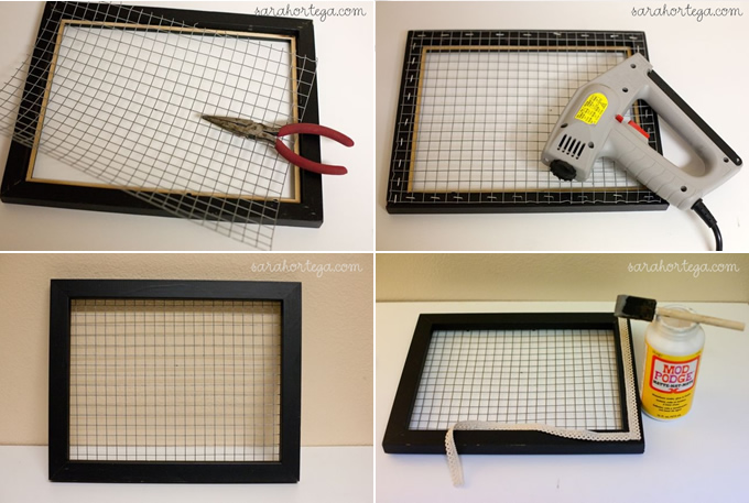 Diy Wire Frame Glasses : DIY Wire Fence Frame Milomade
