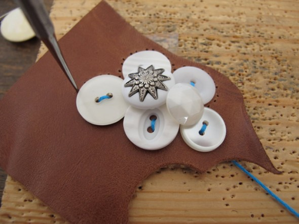A cloud brooch in progress
