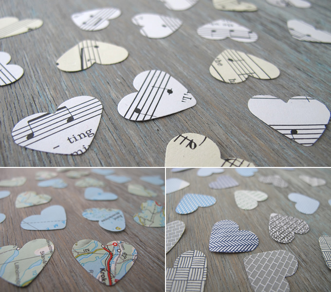 recycling paper: making stickers out of recycled paper
