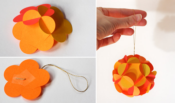 How to make 3D paper ball ornaments | Milomade