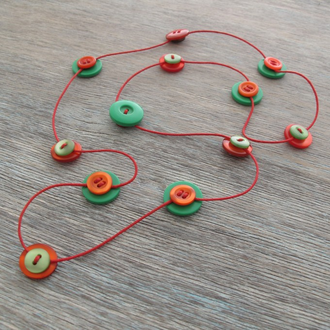 Milomade Button Strands Necklaces