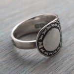 Antique Silverware Ring - Pamuya - Made from a sterling silver spoon