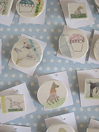 ENOS - Lisa Ronney - Ceramic Badges