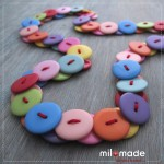Milomade Slinky Button Necklace