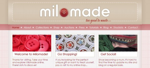 Milomade website new look