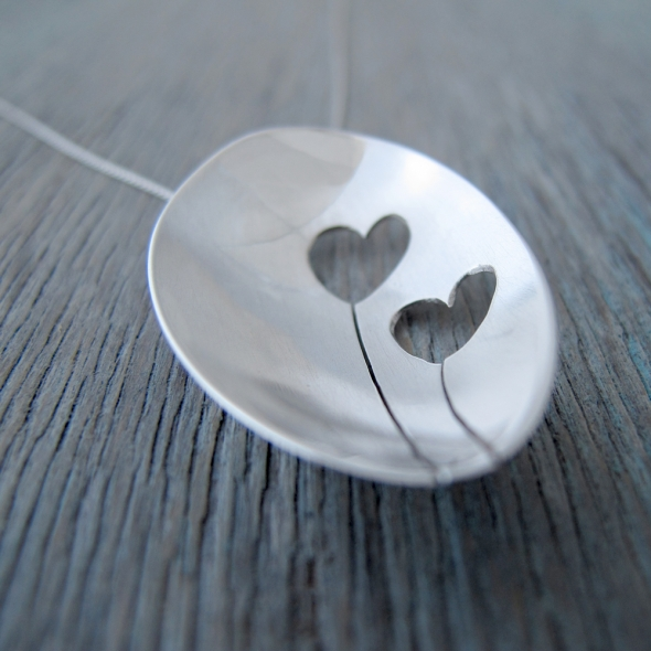 Milomade Love Heart Pendants are now available at the Itch Gallery in Oakham