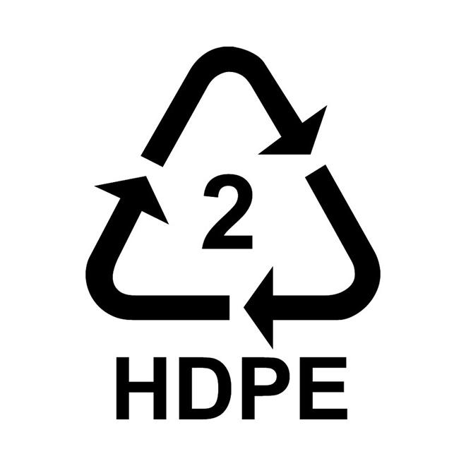 Plastic Symbol - HDPE
