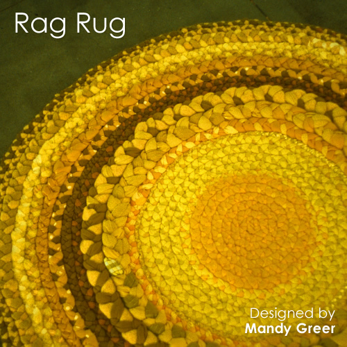 Theme Thursday - A little obsessed with yellow - Rag Rug by Mandy Greer