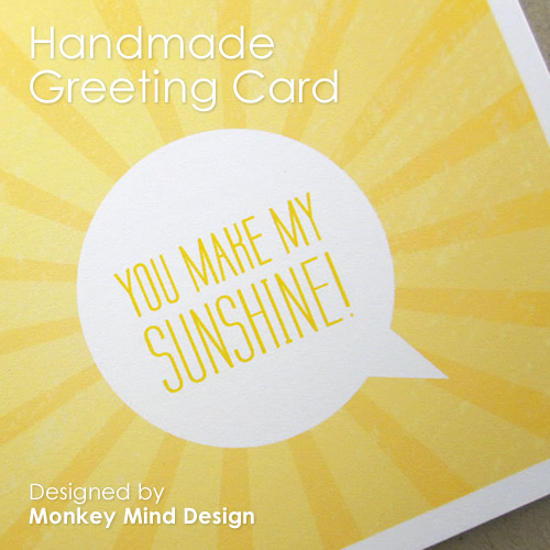 Theme Thursday - A little obsessed with yellow - Sunshine card by Monkey Mind Design