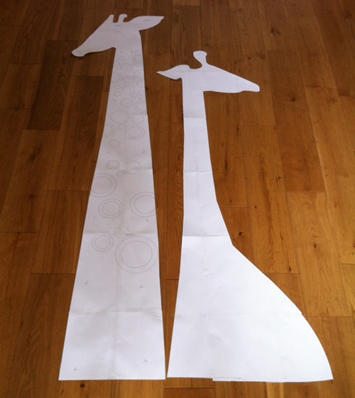 Giraffe cut outs