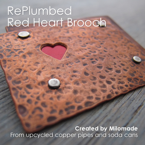 Theme Thursday - Motherly Love - RePlumbed Red Heart Brooch