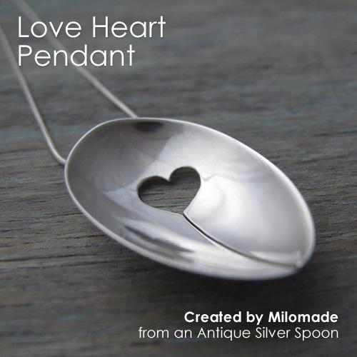 Theme Thursday - Motherly Love - Love Heart Pendant