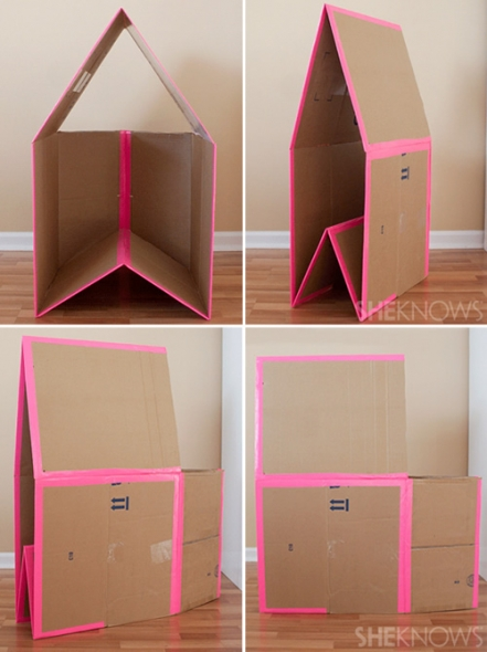 DIY Collapsible Cardboard House