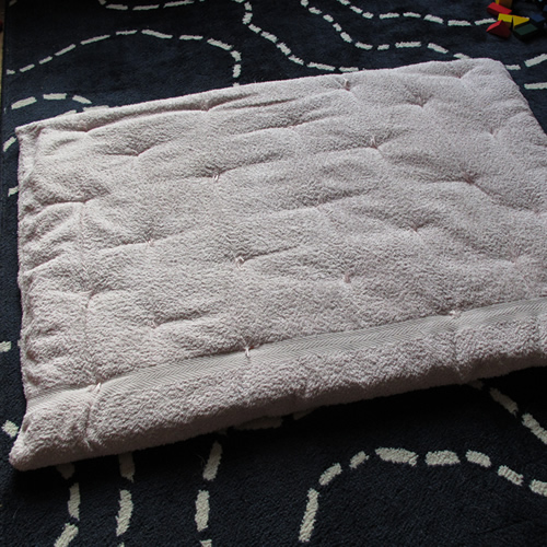 A Dog Bed Made From An Old Towel - A Tutorial By Milomade