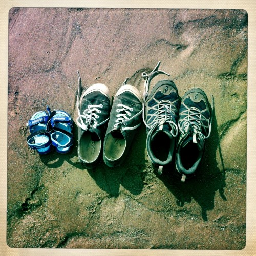 Daddy bear, Mummy bear and Baby bear went to the beach