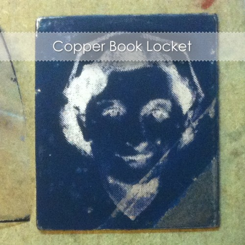 Copper Book Locket