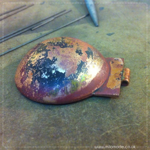Copper Locket - Soldered