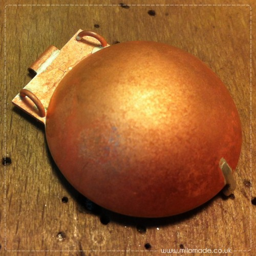 Copper Locket - Adding bails for the necklace