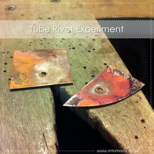 Tube Rivet Necklace
