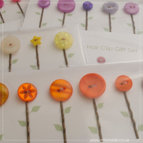 Milomade Eco Chic Button Hair Accessories for the Sue Ryder Handmade Competition