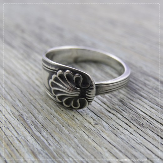 Milomade Antique Silverware Ring - Anthemion - Get 10% Off Today!