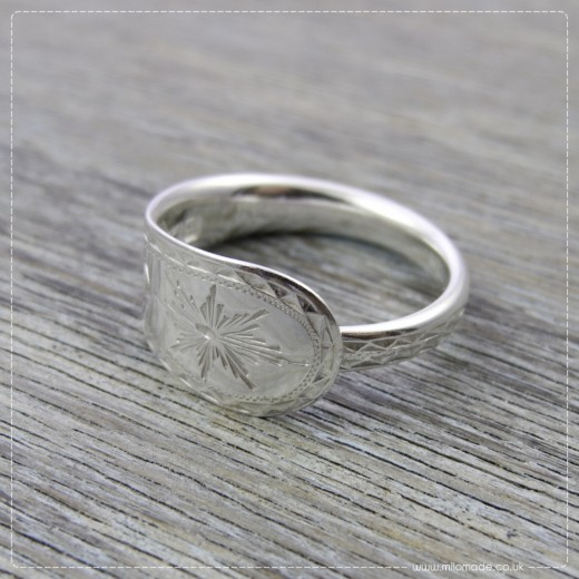 Milomade Antique Silverware Ring - Aisling - Get 20% Off Today!