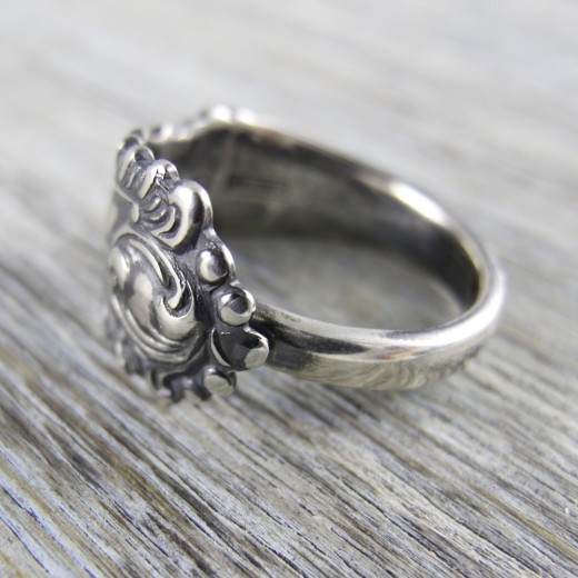 Milomade Antique Silver Ring - Quill - Get 20% Off Today!