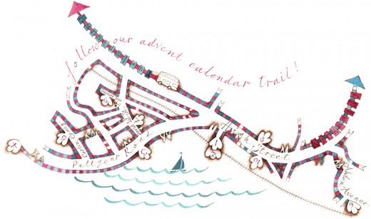 Round The Horn 2014 Map of Venues created by Catherine Lindow