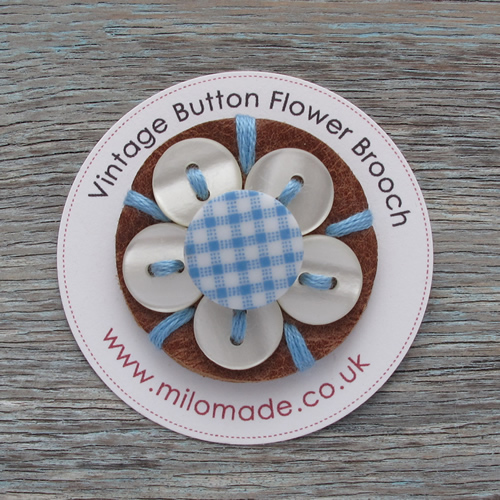 Gifts For Her - Daisy Button Brooch