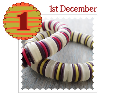 Advent Calendar 2014 - 1st December - Elasticated Button Bracelets