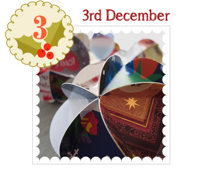 Advent Calendar 2014 - 3rd December - DIY 3D Bauble Kits