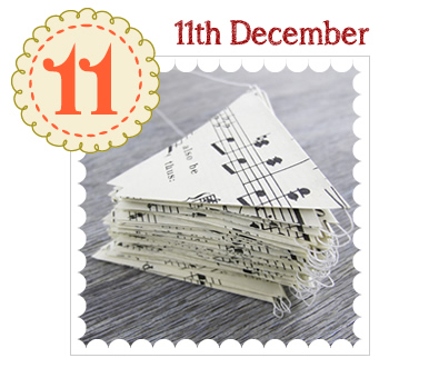 Advent Calendar 2014 - 11th December - DIY Bunting Pack